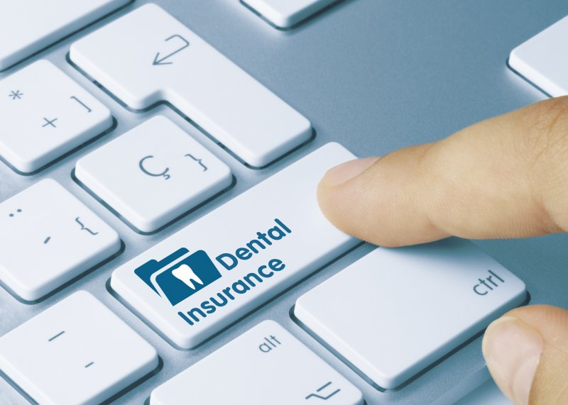 Dental insurance button on keyboard